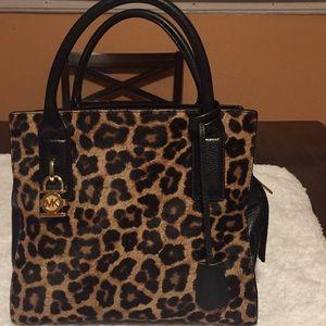 MK animal print faux purse gentlty used no tears